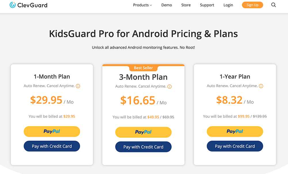 clevguard android pricing